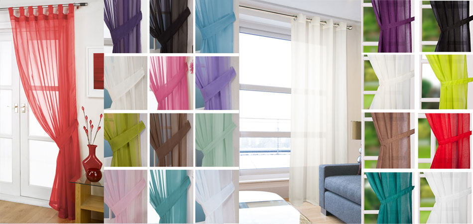 Our Selection Of Voile Panels.  Quality At An Affordable Price